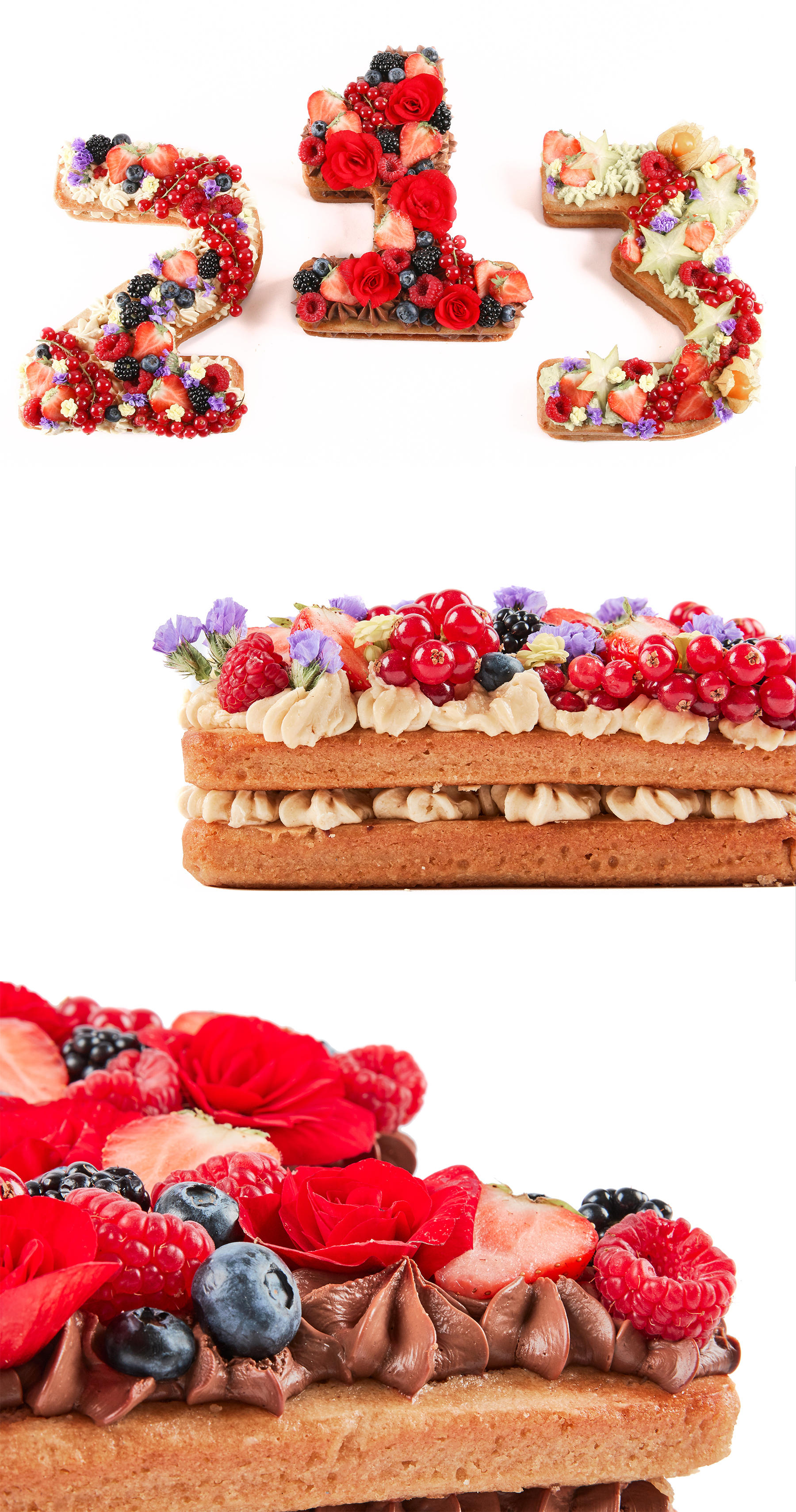 Fleur - vrolijke cijfercake