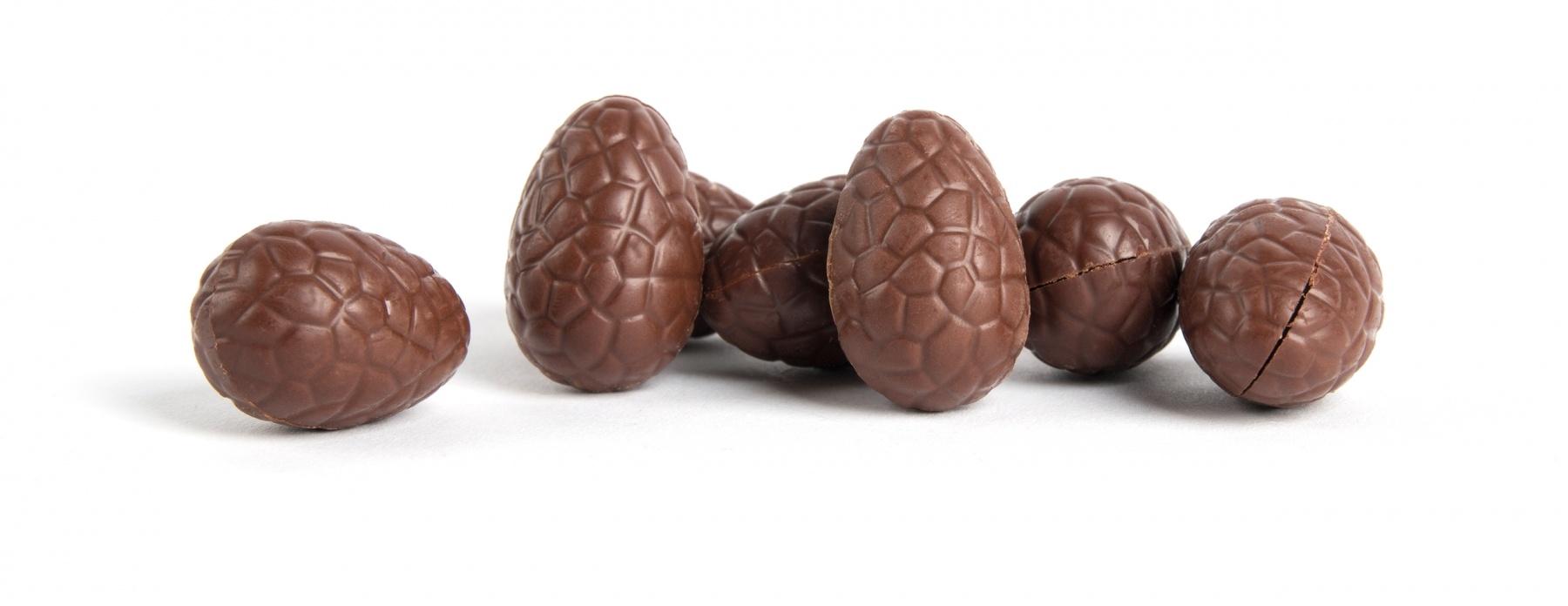 Paaseitjes - Chocolade met vulling van hazelnootpraline