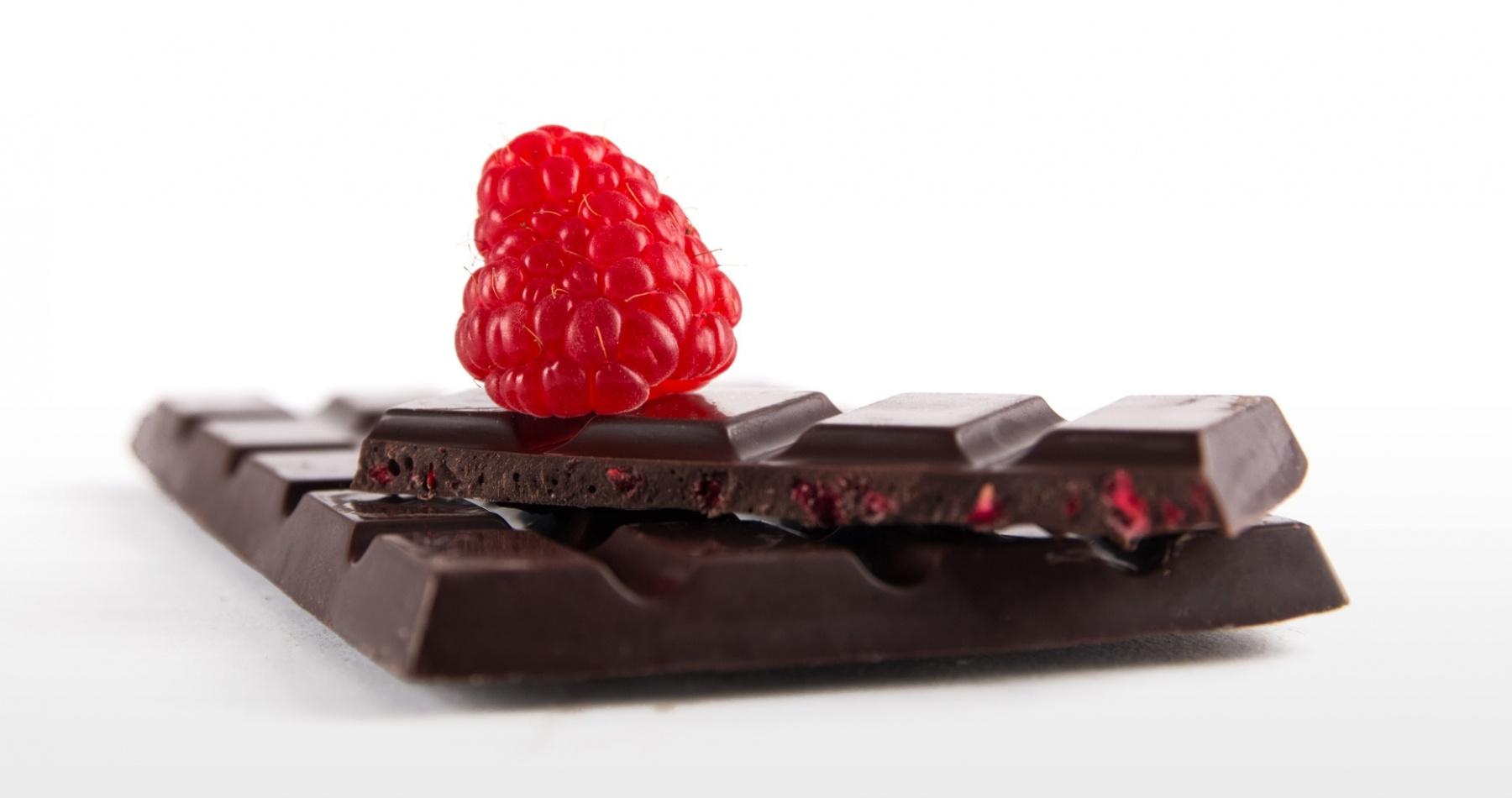 Victoria - 60 Pure chocolade met frambozen