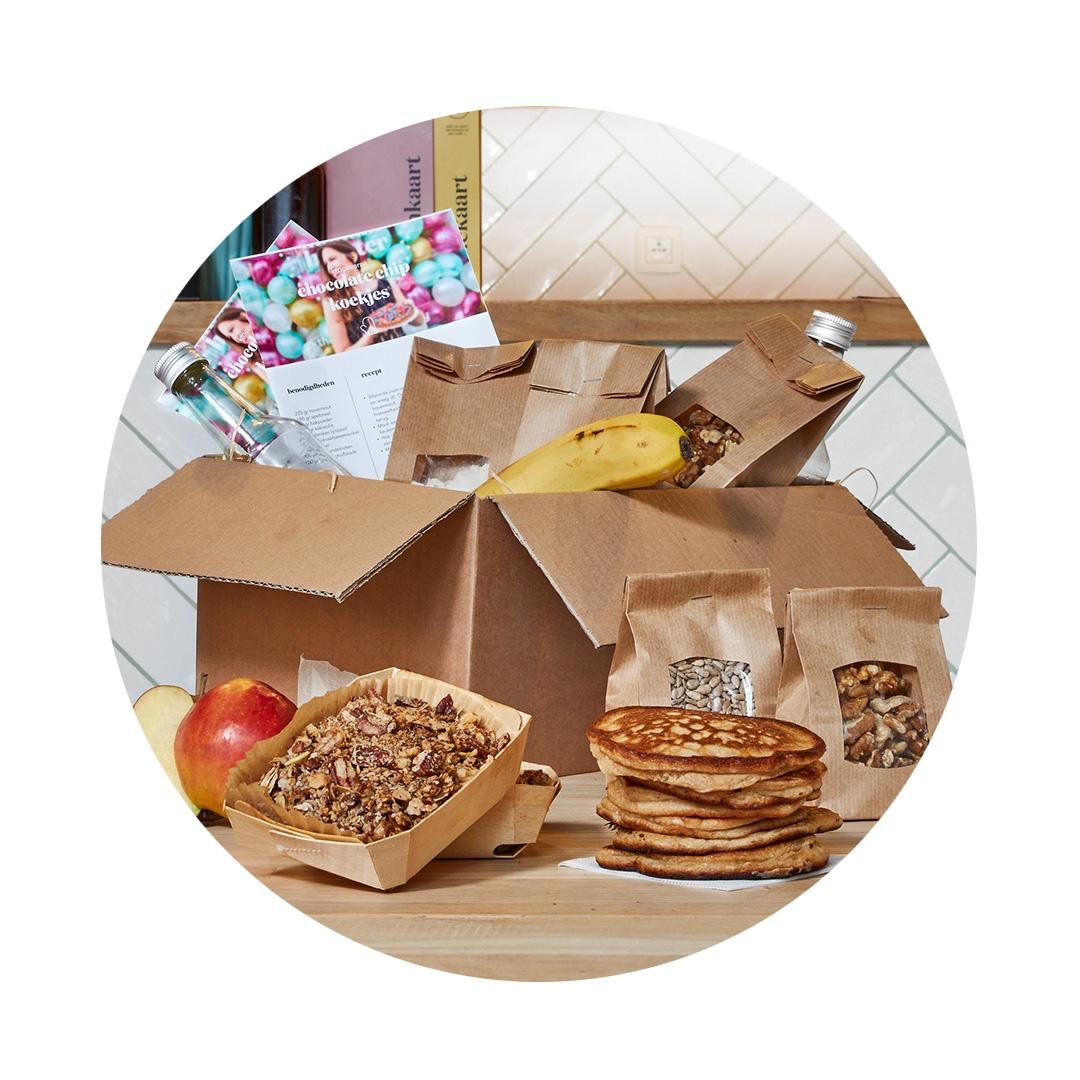 Bak-het-zelf brunchbox - Toevallig wat tijd over Tover zelf de lekkerste brunch op tafel Recepten inbegrepen